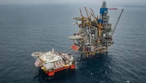Safe Boreas alongside the Mariner platform in the UK North Sea (Photo: Jamie Baikie and Michal Wachucik, Equinor)