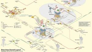 Brae Complex Layout - Image source: Marathon Oil