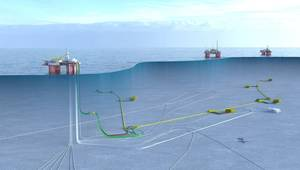Illustration off the Snorre expansion field (Image: Equinor)