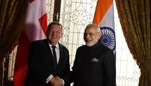 Indian PM Narendra Modi with the Prime Minister of Denmark Lars Løkke Rasmussen. Photo: PIB