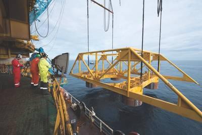 Åsgard subsea संपीड़न टेम्पलेट (फ़ोटो: subsyvind Hagen / Equinor)