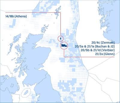 Τίτλος πετρελαίου και φυσικού αερίου Jersey overview - Χάρτης από το πετρέλαιο και το φυσικό αέριο του Jersey