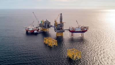 Το πεδίο Johan Sverdrup στη Βόρεια Θάλασσα. (Φωτογραφία: Equinor ASA)