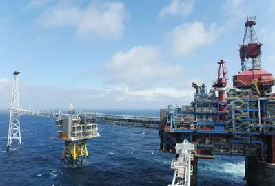 Το πεδίο Sleipner στη Βόρεια Θάλασσα. (Φωτογραφία: Harald Pettersen / Equinor)