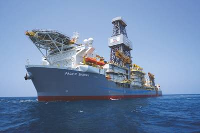 المحيط الهادئ Drilling's Sharav drillship (تصوير: شيفرون)
