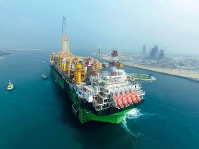एगिना फ्लोटिंग उत्पादन, भंडारण और ऑफलोडिंग यूनिट (एफपीएसओ) नाइजीरिया की सबसे महत्वाकांक्षी अल्ट्रा-डीप अपतटीय परियोजनाओं में से एक, एगिना तेल क्षेत्र, 1,500 मीटर से अधिक पानी की गहराई पर स्थित है। (फोटो: कुल)