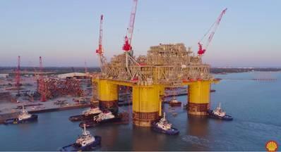शेल को 2010 में एपॉमैटोटेक्स में तेल मिला और 2015 में एफआईडी लिया। 2,400 फीट पानी की गहराई में क्षेत्र 201 9 में उत्पादन शुरू होने की उम्मीद है। (छवि: शैल)