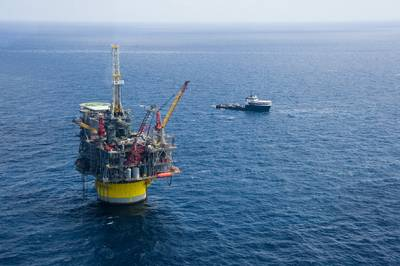 メキシコ湾のペルディドの生産拠点(写真:Shell)