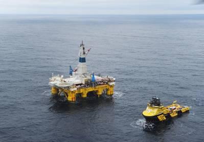 往北走:极地先锋队在北极的巴伦支海钻探Skrugaard井(照片:Equalor Harald Pettersen)