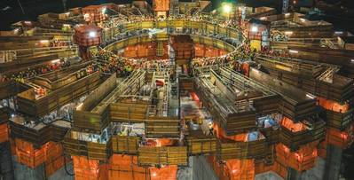 50 000 баррелей в сутки в ожидании: цементный кессон для нового проекта West White Rose (Фото: Husky Energy)