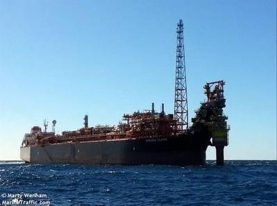Armada Claire FPSO / Изображение Марти Уэнама / Морской трафик