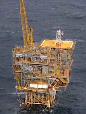 Bass StraitのBarracoutaプラットフォーム(写真:ExxonMobil)