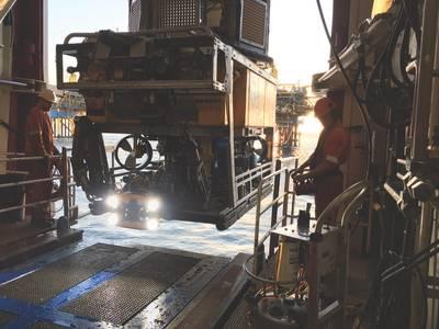 Comex的ORUS3D系统集成到ROV,用于2018年在北海的运营。(资料来源:Comex Innovation)
