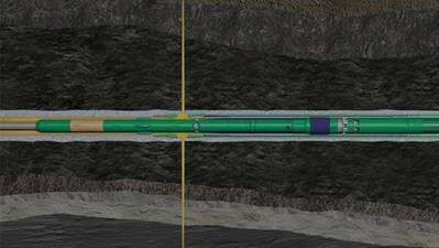 Con una manga instalada en la terminación que se puede abrir y cerrar en el pozo, ahora es posible fracturar varias zonas con solo un viaje al pozo. (Imagen: Aker BP)