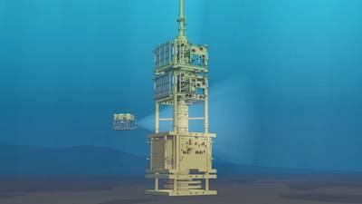 Das Intervention Riser System von Expro für Petronas Phase-II-Plug-and-Alignment-Vertrag (P & A) für das Chinguetti-Feld vor der Küste Mauretaniens. (Bild: Expro)