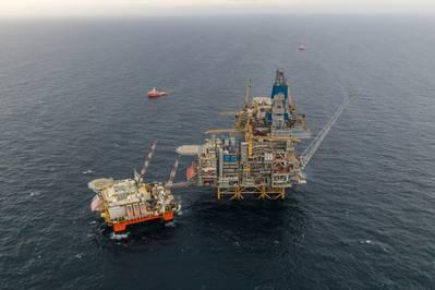 Das Schicksal der Nordsee: Ein Bohrgerät bei Equinor's Mariner in der Nordsee (Foto: Jamie Baikie, Equinor)