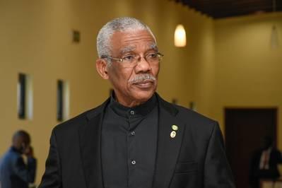 David Granger; Crédito - Departamento de Informação Pública Guiana