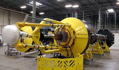 Der PowerBuoy ist bereit für den Offshore-Einsatz und für Premier Oil bestimmt. (Foto: OPT)