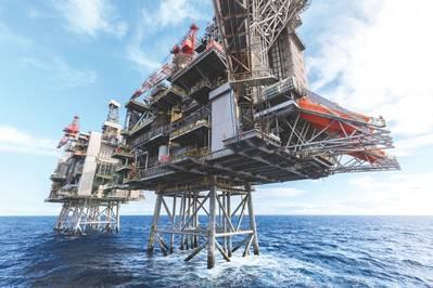 A Emerson está fornecendo serviços de manutenção preditiva e serviços de suporte operacional à BP em sua plataforma Clair Ridge. (Foto: BP)