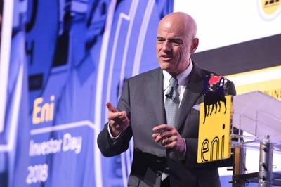 Eni CEO Claudio Descalzi (Dateifoto: Eni)