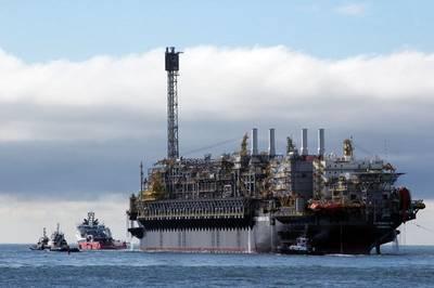 ペトロブラスは、2019年2月に、サントス盆地の前塩の中で、ブジオス油田の3番目のプラットフォームであるP-76 FPSOから生産を開始しました(写真:ペトロブラス)。
