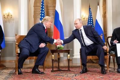 Foto de archivo: Donald Trump y Vladimir Putin en julio de 2018 (foto oficial de la Casa Blanca por Shealah Craighead)