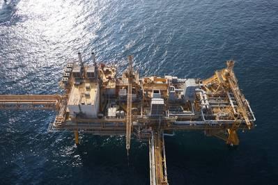 Inspección offshore para Dubai Petroleum. Foto: Cyberhawk
