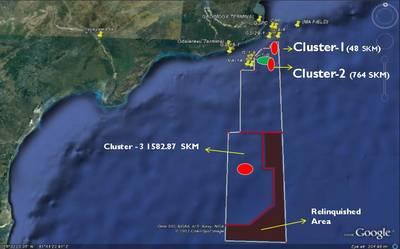 KG-DWN-98 / 2区块的位置图(图片:英国国际贸易部)