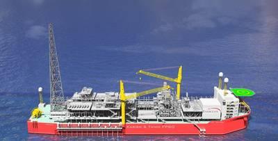 Karish和Tanin浮式生产储存和卸载装置。照片:Energean Oil&Gas