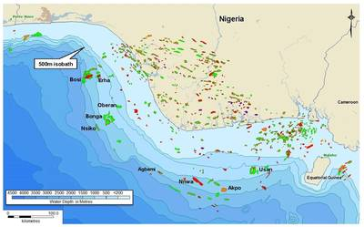 NNPCが共同パートナーであるアグバミ油田を示すナイジェリア油田。 (画像:Telciエンジニアリング)