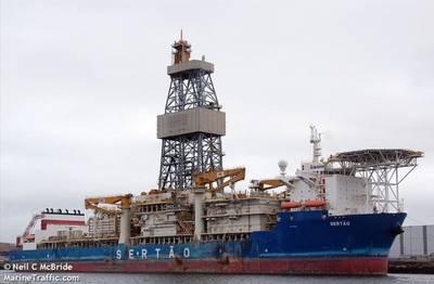 Navio de perfuração Sertão - Imagem por Neil C McBride -MarineTraffic