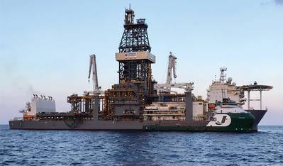 "OSV ""THUNDER"" που ανήκει στο Jackson Offshore που εξυπηρετεί floater ""DEEPWATER CONQUERER"" Πηγή: Jackson Offshore"