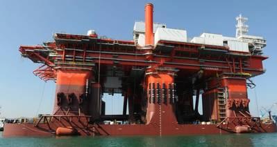 """Propietarios """"nuevos"""": la plataforma híbrida, West Mira, ahora de Northern Ocean Ltd. (Foto: Northerrn Drilling)"""