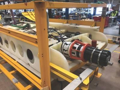 Saab Seaeye的Sabretooth配有Blue Logic连接器和经过验证的感应数据和充电(照片:Saab Seaeye)
