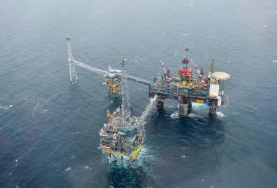 Seit 1996 wird das von Equinor betriebene Sleipner-Feld vor der Küste Norwegens als Kohlenstoffabscheide- und -speicheranlage genutzt und ist damit das am längsten laufende CO2-Speicherprojekt der Welt. (Foto: Harald Pettersen / Equinor)
