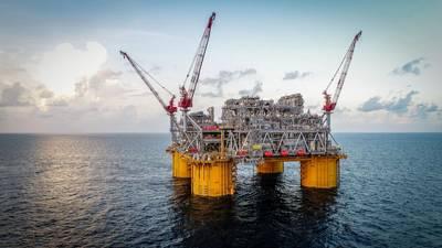Sistema de produção flutuante Appomattox no Golfo do México (Foto: Shell)