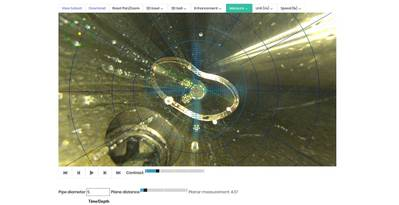 WellCAM demonstrando capacidade de medição em tempo real. (Imagem: Visão iO)