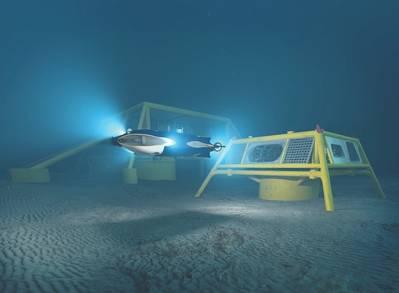 O conceito Freedom da Oceaneering, a impressão de um artista. (Imagem: Oceaneering)