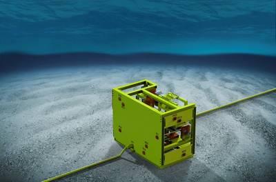 A eProcess Technologies desenvolveu o Subsea Desander (SSD) para o Nível 5 de Prontidão Técnica. Ele não tem partes móveis e tem cerca de 10% do tamanho e peso dos sistemas de filtro convencionais. O SSD pode remover 98% das partículas de 5 a 50 microns e maiores e até 99% em peso. (Imagem: tecnologias de eProcess)