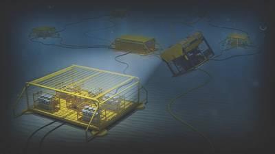 O futuro da indústria de petróleo e gás: as unidades submarinas eletrificadas posicionadas no fundo do mar devem revolucionar a produção. (Imagem: ABB)