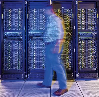 O supercomputador da BP no seu centro de computação em Houston (Foto: BP)