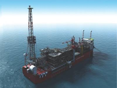 La unidad de almacenamiento y descarga de producción flotante (FPSO, por sus siglas en inglés) Energian Power trabajará 90 kilómetros mar adentro para permitir el amarre del campo Karish. (Imagen: TechnipFMC)