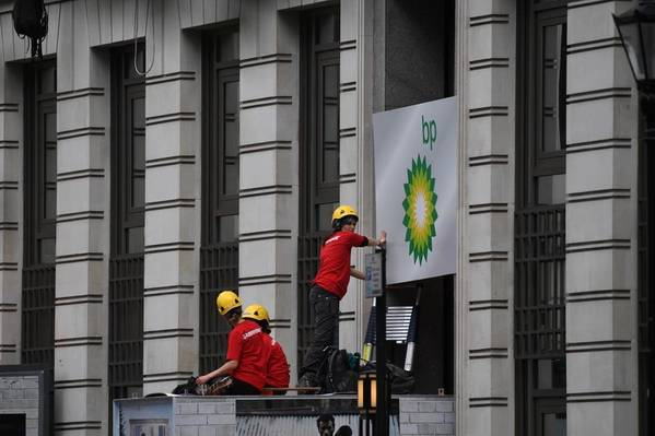 Environmental Activists Block BP London HQ