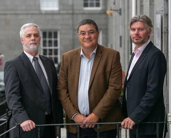 Andrew Jaffrey, Chief Technology Officer; Neil Gordon, Chief Executive; Elliot Kinch, Business Development Director. (Photo: Sentinel Subsea)
