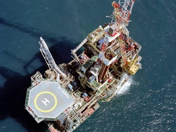 BP's Andrew platform in the UK North Sea - Credit: BP