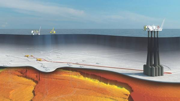 An artist's impression of Equinor's Troll Phase 3 development (Image: Equinor)