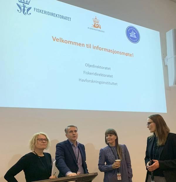 Benvenutta Henriksen, Torgeir Stordal, Ellen Marie Skartveit and Heidi Hagland in the NPD attended the meeting. Photo: NPD