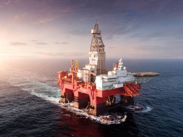 West Bollsta semi-submersible drilling rig - Credit: Daniel Seljebø/Lundin Energy Norway