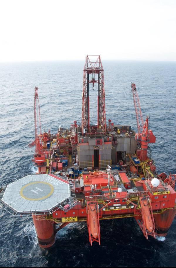 Borgland Dolphin drilling rig - Image by Bjørnar Iversen
