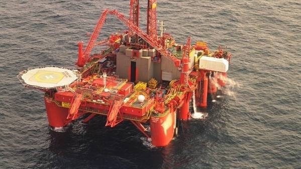 Borgland Dolphin semi-submersible drilling rig.- Credit: Dolphin Drilling